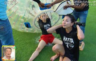 【画像】江田友莉亜が「旅サラダ」で見せたびしょ濡れハミ尻とおっぱい強調がエロ過ぎるwwwww
