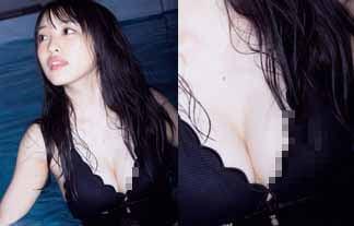 向井地美音がポ少女事故…19才の乳輪がネットの海に流れてしまう…(グラビアえろ写真44枚)
