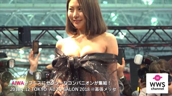 東京オートサロン2018 水着エロ画像015