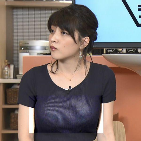 NHKアナ赤木野々花 下着透けエロ画像004