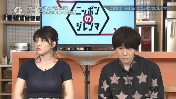 NHKアナ赤木野々花 下着透けエロ画像011