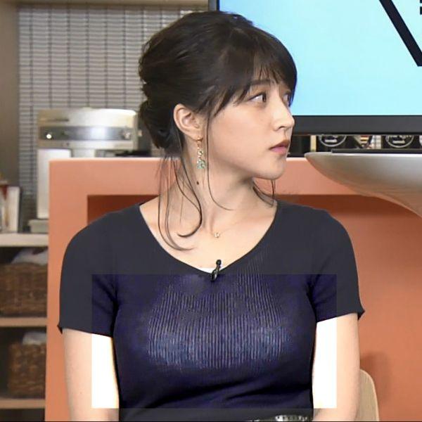 NHKアナ赤木野々花 下着透けエロ画像014