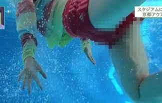 【放送事故】女子アナさん、プール取材で水着からマンチラwww地方局が緩すぎるwww【エロ画像18枚】
